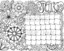 September Doodled Calendar Coloring Page Coloring Pages For September