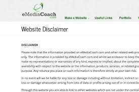Disclaimer by Website Disclaimer Template And Generator For 2017