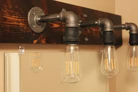 diy industrial bathroom light fixtures edison bathroom vanity