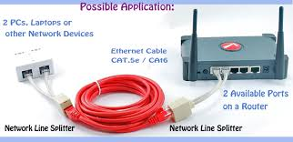 6 inches cat 5 10 100 rj45 1 female 2 male network line splitter cable