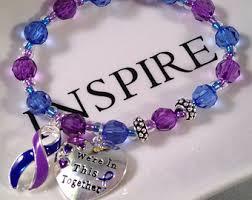 ra ribbon rheumatoid arthritis awareness bracelet