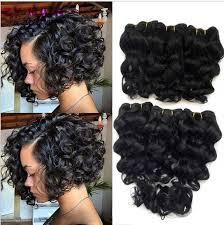 short bobs with bohemian peruvian hair online shop summer new 8 inch deep wave tissage bresilienne queen