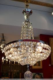 Antique Baccarat Chandelier Chandelier Ancient 20th Century Deco Period In