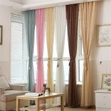 linen curtains customized multicolor thicken window treatments