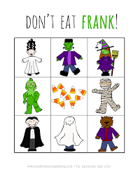 Halloween Preschool Printables Printable Halloween Game