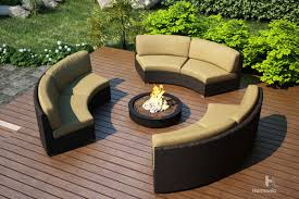 Curved Patio Furniture Set - harmonia living arden 3 piece eclipse sectional set