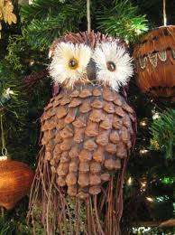 pine cone owl ornaments top pins the whoot