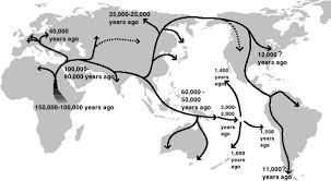 map of america 20000 years ago did from the americas evolve separately from those in asia