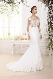 chiffon wedding dress sophisticate lace top trumpet chiffon wedding dress with