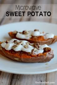 sweet potato recipes thanksgiving microwave sweet potato five little chefs