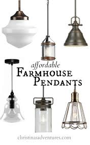 affordable kitchen design elements farmhouse pendant lighting