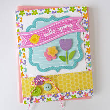 card blanc by kathy martin hello spring