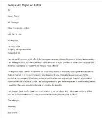 best rejection letter 9 free word pdf documents download