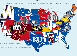 California Arizona Map by Arizona Owns The College Basketball Map In California