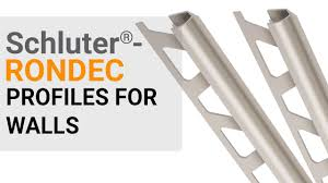 how to install tile edge trim on walls schluter rondec profile