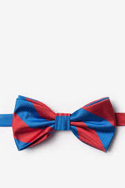 blue bows royal blue microfiber royal blue stripe pre bow tie