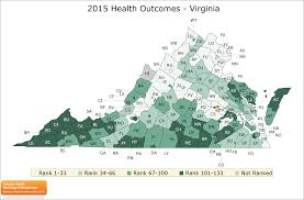 Va County Map Virginia Rankings Data County Health Rankings U0026 Roadmaps