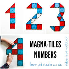 magna tiles number cards adventure in a box