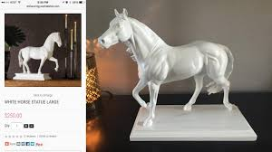 horse statues for home decor high end inspired white horse statue home décor diy u2013 angela east