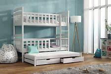 Wooden Triple Bunk Beds EBay - Triple bunk bed wooden