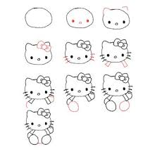 draw kitty step step kawaii