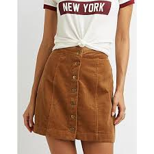 corduroy skirt corduroy button up skirt russe