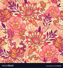 Fall Flowers Fall Flowers Seamless Pattern Background Vector Image