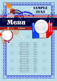 menu template for french restaurant or cafe royalty free vector