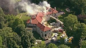 firefighters battle 3 alarm blaze in westchester county ny cbs