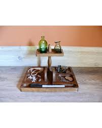 here u0027s a great price on solid wood valet tray 2 tier desk