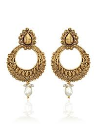 chandbali earrings buy zaveri pearls charming chandbali earring for women zpfk3663