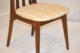 Danish Modern Dining Room Chairs Danish Modern Dining Table With Six 6 Koefoed Style Tall Back