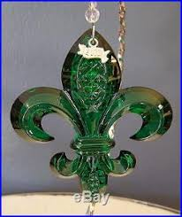 set of 7 waterford fleur de lis ornaments