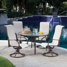 Glass Top Patio Table And Chairs Patio Amusing High Top Patio Table Outdoor Bar Height Bistro Set
