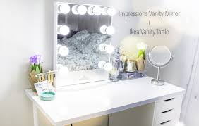 How To Make A Makeup Vanity Mirror Impressions Vanity Mirror Ikea Vanity Table Youtube