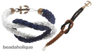 rope bracelet with anchor images How to make a knotted round braid anchor bracelet jpg