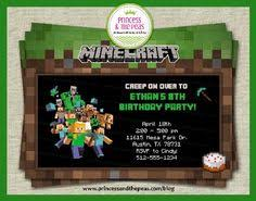 minecraft invitation printable minecraft invitations