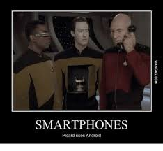 Jean Luc Picard Meme - smartphones picard uses android picard meme on me me