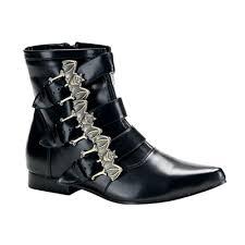 s boots buckle demonia brogue 07 black bat buckle mens boots demonia shoes