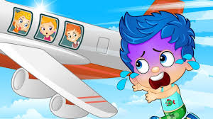 bubble guppies gil u0026 molly babies misses airplane crying