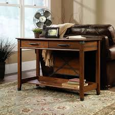rustic living room ideas with 2 drawers storage console table and