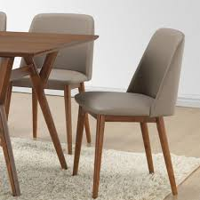 baxton studio lavin beige faux leather upholstered dining chairs
