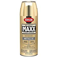 krylon k01000a07 premium metallic spray paint 18k gold 8oz