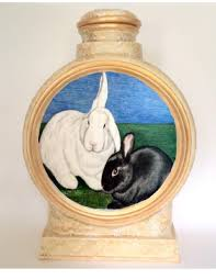 custom urns custom pet urns 2 rabbit urn color pencil portrait pet urns
