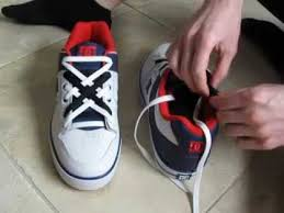 shoelace pattern for vans cool how to diagonal lace shoes with 2 colors of laces youtube