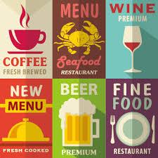 retro with vintage restaurant menu cover vector graphics 04 free