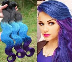 black women with purple hair ombre brazilian hair weaves extensions body wave t1b blue purple
