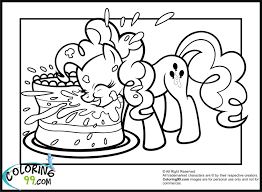 my little pony birthday coloring page my little pony pinkie pie coloring pages get coloring pages