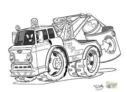 coloring book tow truck toon bebo pandco
