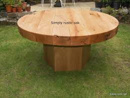 Handmade Wooden Outdoor Furniture by Robrgt Rustic Oak Beam Round Garden Table Mesas Pinterest